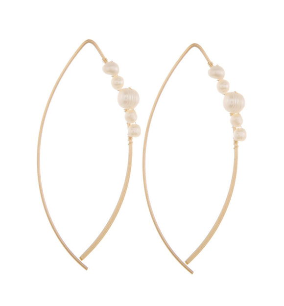 Rose Gold Earrings with Pearls