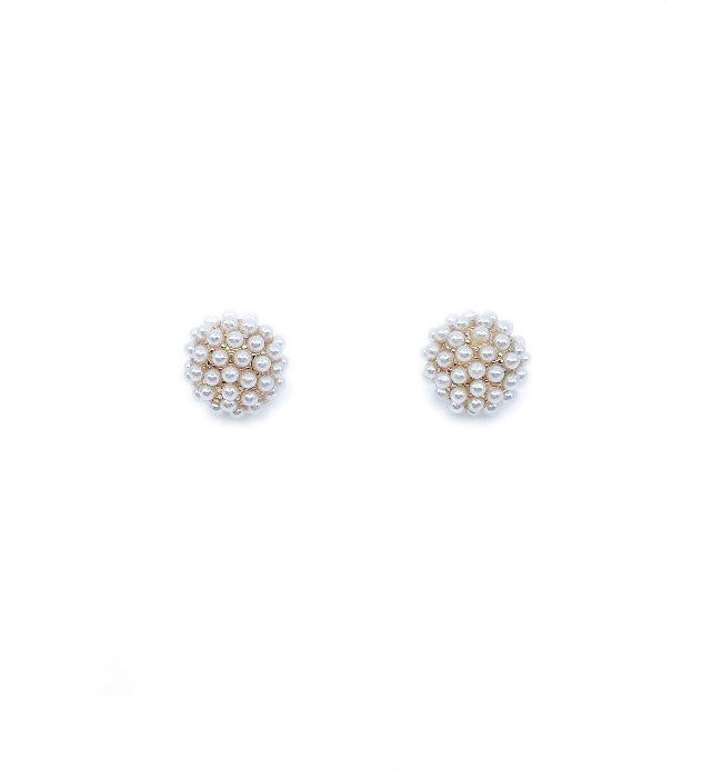 Pearl Pave Post Earrings