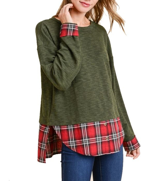 Sweater Shirt in Olive