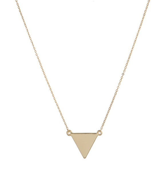 Dainty Necklace with Triangle