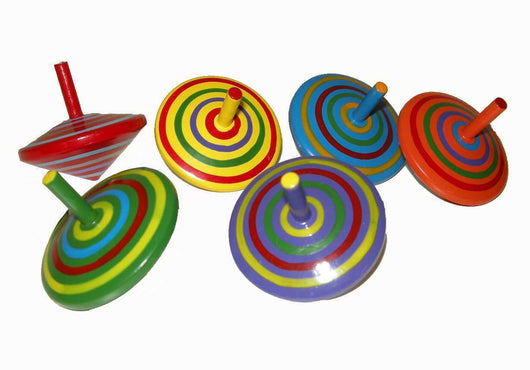 Spinning Tops, Small - Assorted Colours