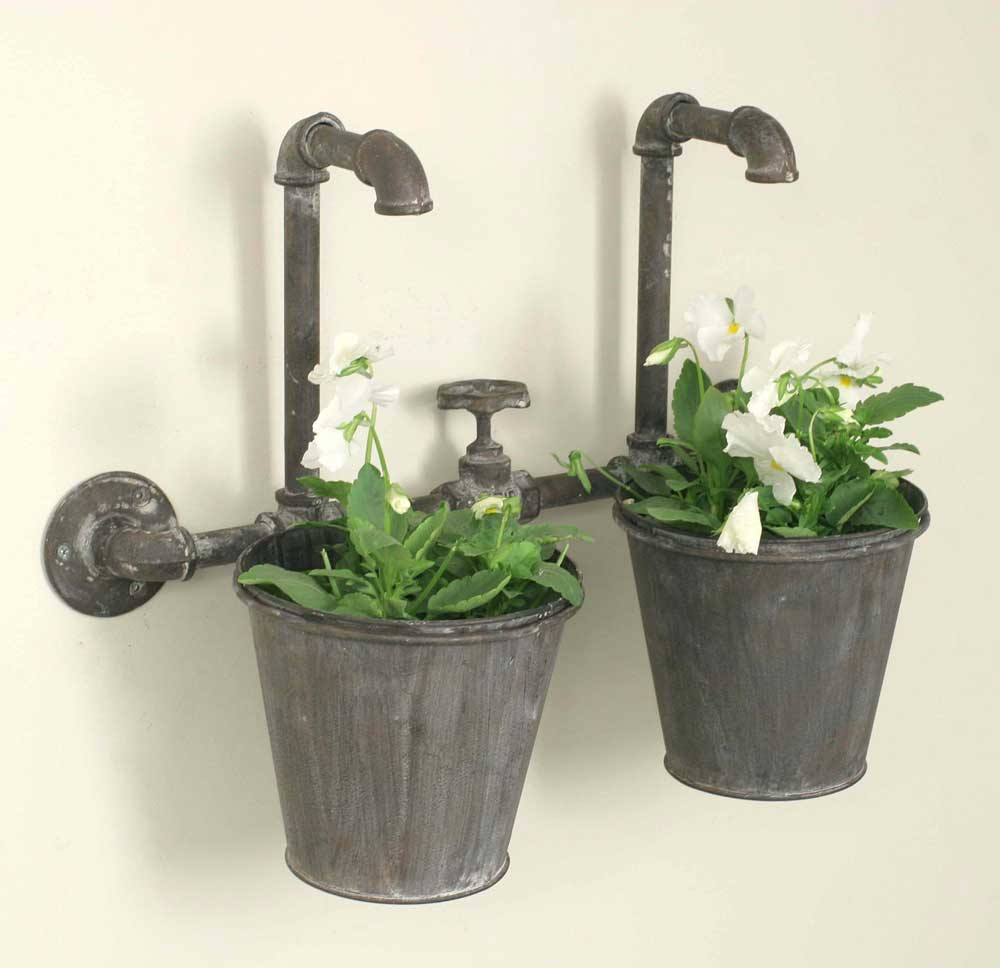 Industrial Double Wall Planter