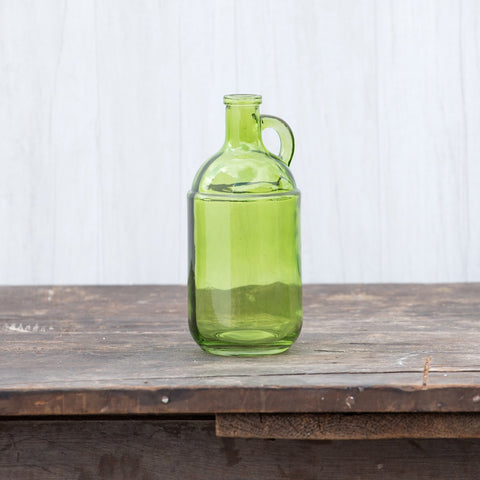 8 IN SOFT GREEN HANDLED JUG