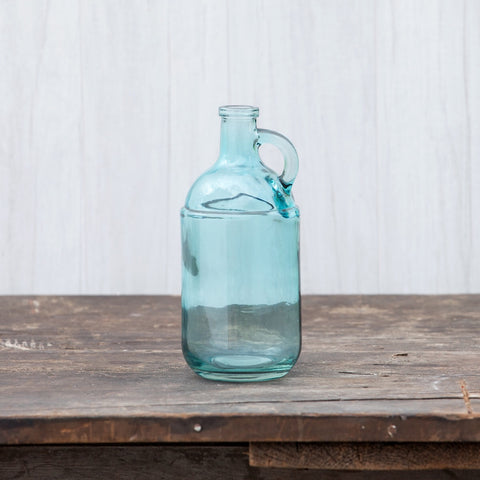 8 IN SOFT BLUE HANDLED JUG