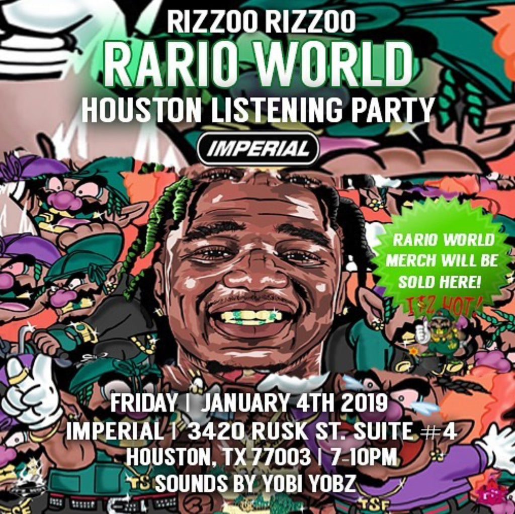 RIZZOO RIZZOO: RARIO WORLD LISTENING PARTY