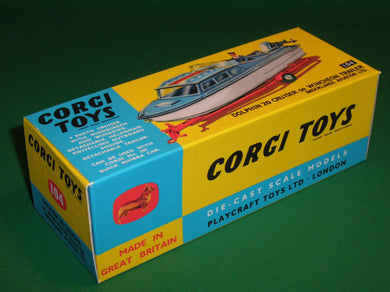 Corgi Toys #104 Dolphin Cruiser on Wincheon Trailer