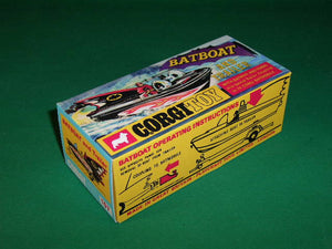 Corgi Toys #107 Batboat & Trailer model (first issue).