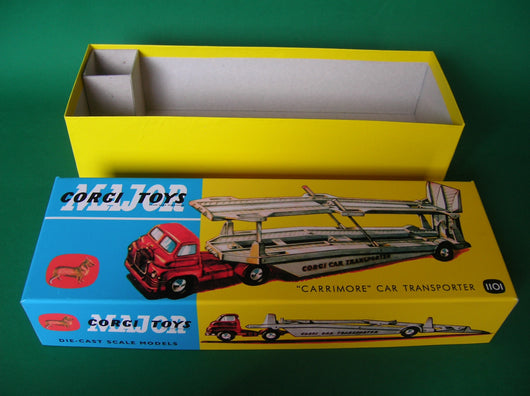 Corgi Toys. #1101 Carrimore Car Transporter with early Bedford Cab.