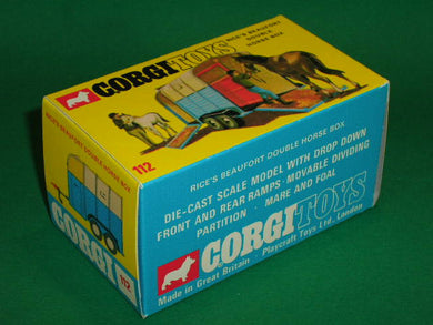 Corgi Toys #112 Rice's Beaufort Double Horse Box.