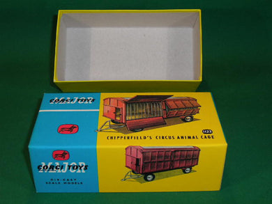 Corgi Toys. #1123 Chipperfield's Circus Animal Cage (lid and base type box).