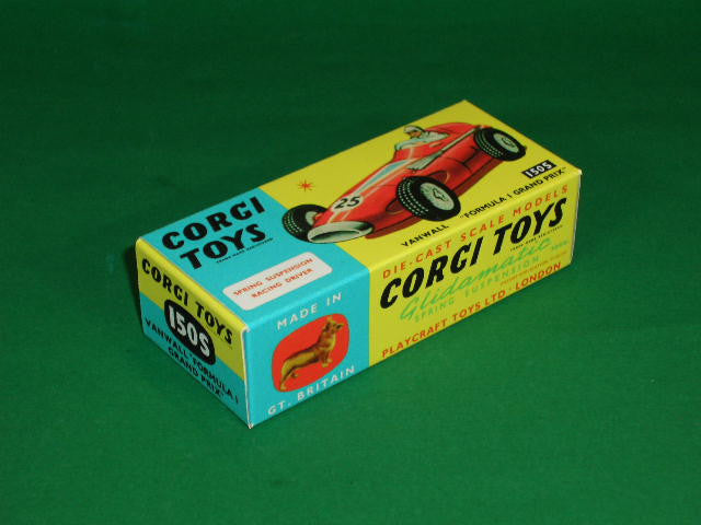 Corgi Toys #150S Vanwall Formula 1 Grand Prix (with suspension).