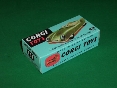 Corgi Toys #151 Lotus Mark XI Le Mans Racing Car.