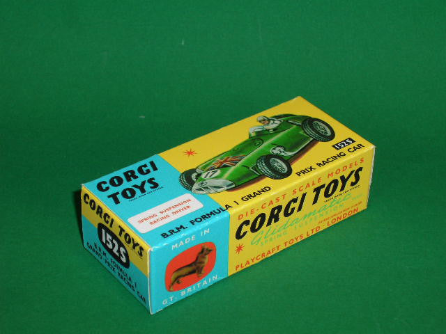 Corgi Toys #152S B.R.M. Formula 1 Grand Prix Racing Car (with suspension).