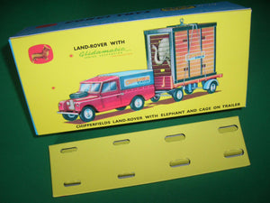 Corgi Toys. Gift Set. #19A  Chipperfields Land Rover with Elephant & Cage on Trailer.