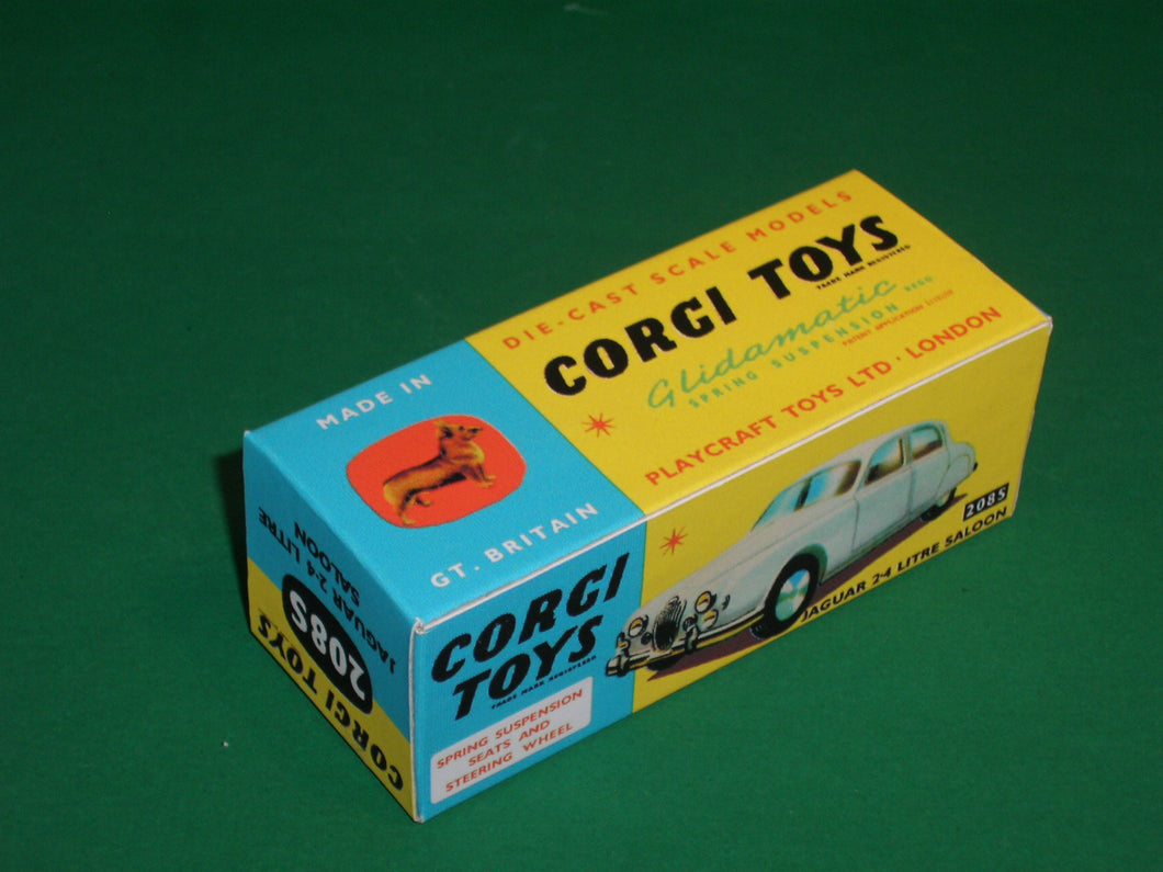 Corgi Toys #208S Jaguar 2.4 Saloon (with suspension).