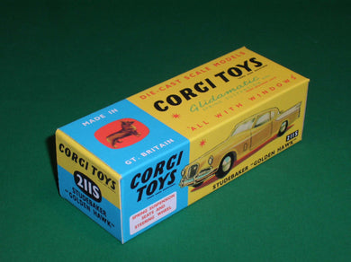 Corgi Toys #211S Studebaker Golden Hawk (with suspension).