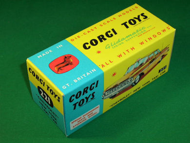 Corgi Toys #221 Chevrolet New York Taxi Cab.