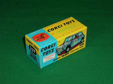 Corgi Toys #227 Morris Mini-Cooper Competition Model.