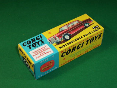 Corgi Toys #230 Mercedes Benz 220 SE Coupe.