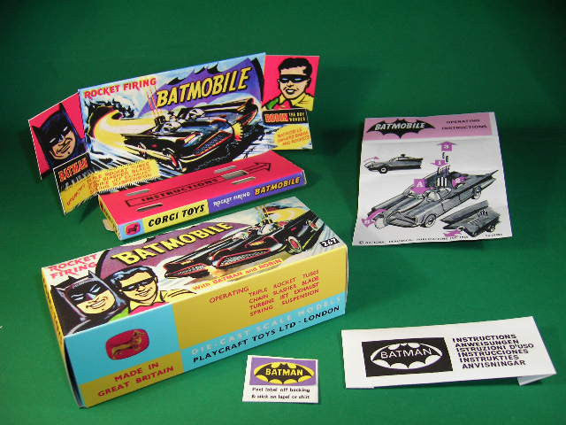 Corgi Toys #267 Batmobile (1st type - red wheels).