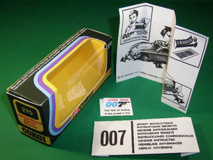 Corgi Toys #270 James Bond Aston Martin (2nd type - silver) - (V3).