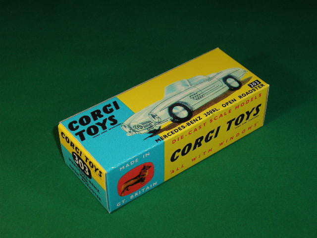 Corgi Toys #303 Mercedes 300 SL Open Roadster (without suspension).