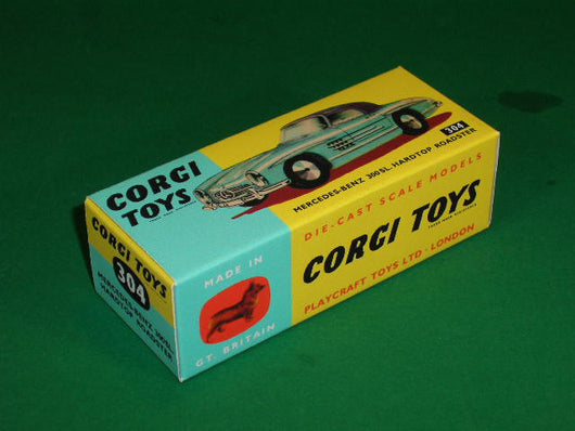 Corgi Toys #304 Mercedes 300 SL Hard Top Roadster (without suspension).