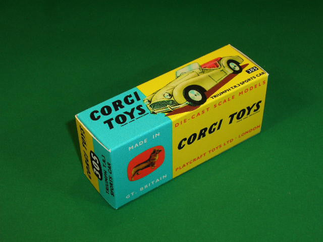 Corgi Toys #305 Triumph T.R.3 Sports Car.