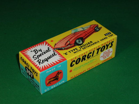 Corgi Toys #307 E-Type Jaguar with detachable hard top.
