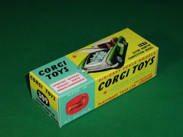 Corgi Toys #309 Aston Martin DB 4 (Competition Model ).