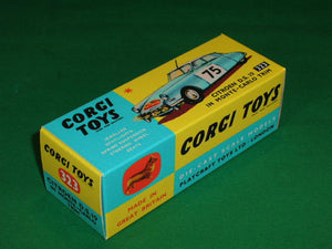 Corgi Toys #323 Citroen DS 19 in Monte Carlo Trim.