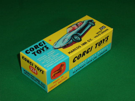 Corgi Toys #324 Marcos 1800 G.T. with Volvo Engine.