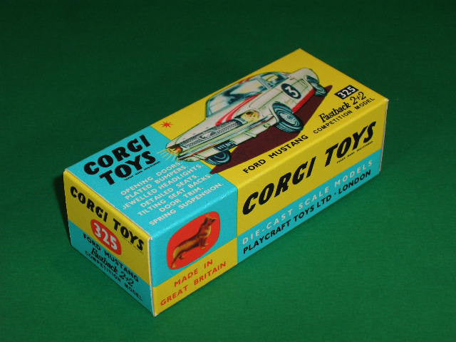 Corgi Toys #325 Ford Mustang Fastback 2+2 Competition.