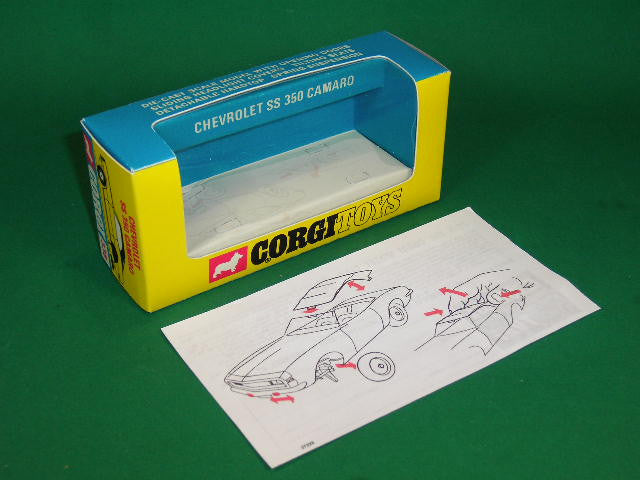 Corgi Toys #338 Chevrolet SS 350 Camaro - 'Golden Jacks'.