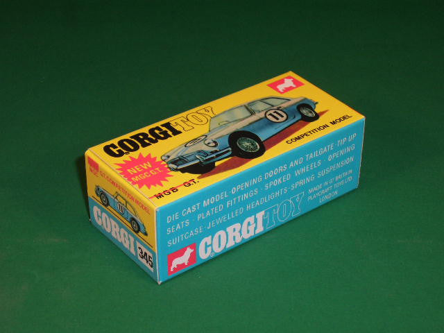 Corgi Toys #345 M.G.C. G.T. (Competition Model).