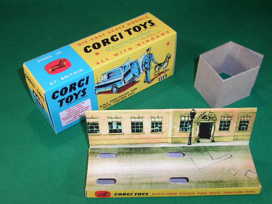 Corgi Toys #448 B.M.C. Mini Police Van with Tracker Dog (Scotland Yard plinth).