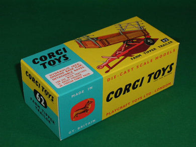 Corgi Toys # 62 Farm Tipper Trailer.