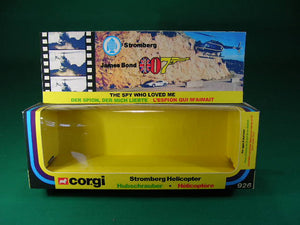 Corgi Toys #926 James Bond Stromberg Helicopter.