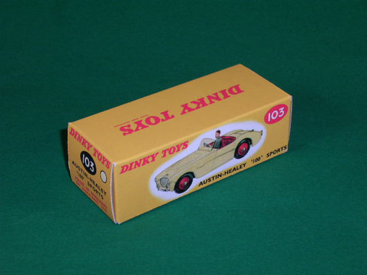 Dinky Toys #103 Austin Healey 100 (touring finish).
