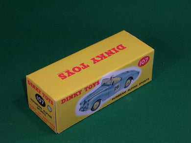 Dinky Toys #107 Sunbeam Alpine Sports (competition finish).
