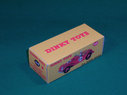 Dinky Toys #108 MG Midget (competition finish).