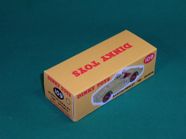 Dinky Toys #109 Austin Healey 100 (competition finish).