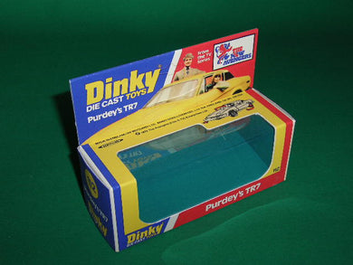 Dinky Toys #112 Purdey's T R 7 from the T.V. series 'The Avengers'.
