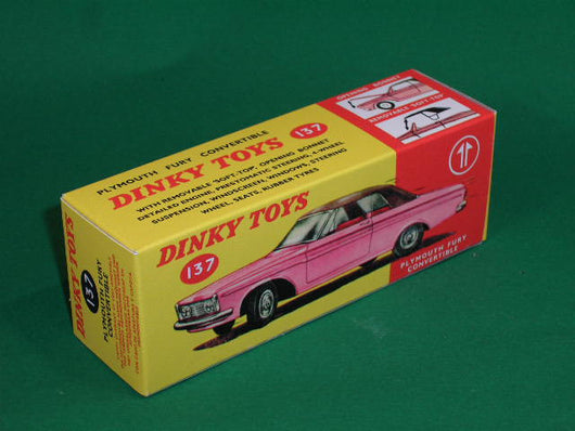 Dinky Toys #137 Plymouth Fury Convertible.