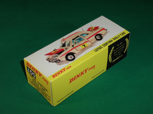 Dinky Toys #205 Lotus Cortina Rally Car.