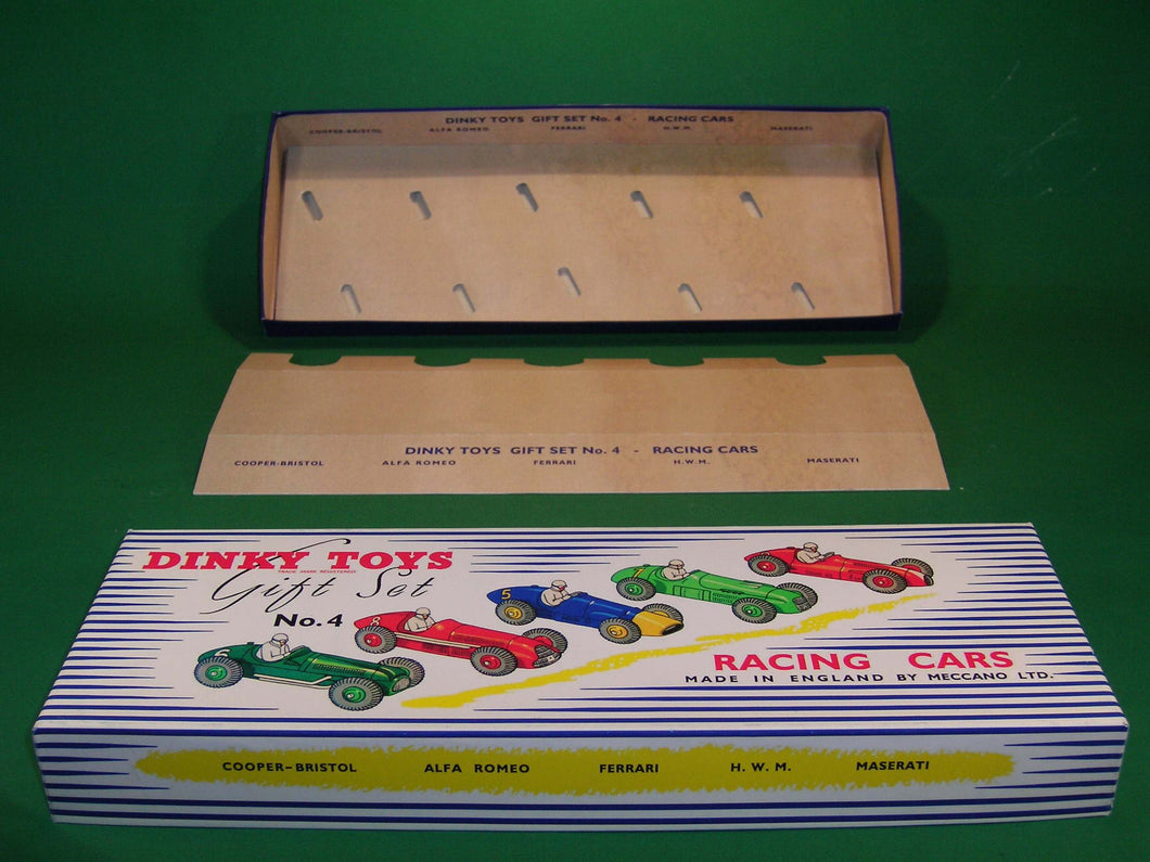 Dinky Toys #249 (Gift Set 4) Racing Cars Gift Set for 5 of the 23 (230) series racing cars.