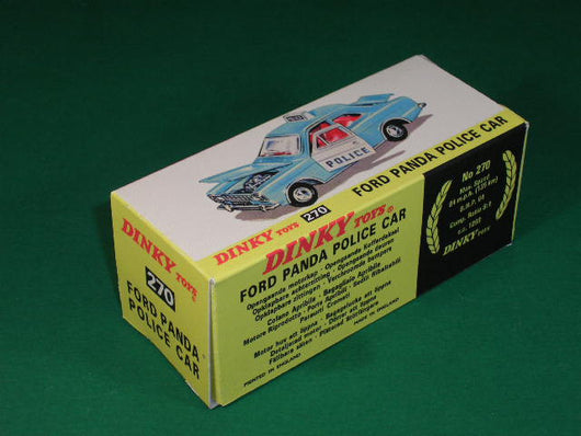 Dinky Toys #270 Ford Panda Police Car (Ford Escort).