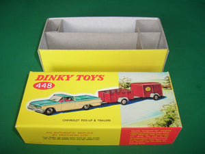 Dinky Toys #448 Chevrolet El Camino Pick-Up & 2 Trailers.