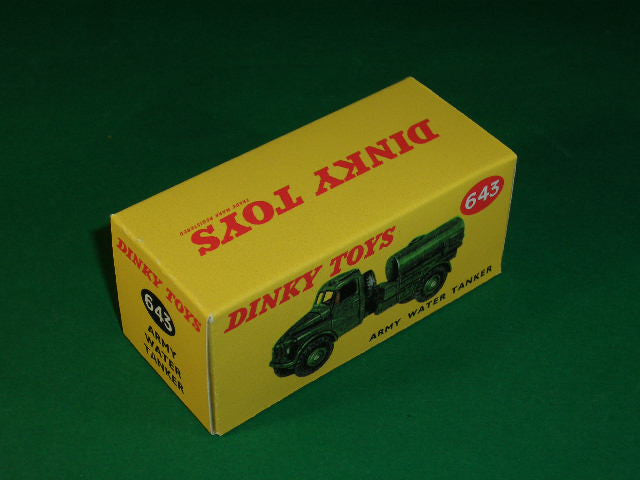 Dinky Toys #643 Army Water Tanker.