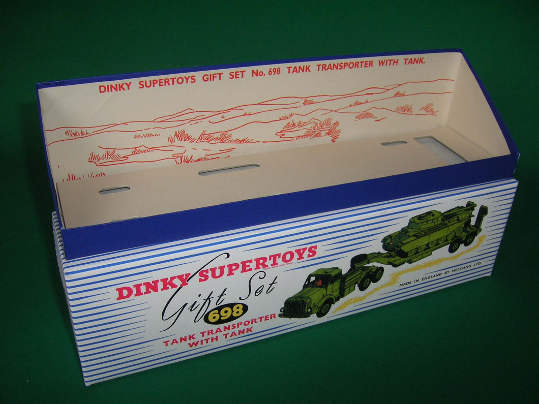 Dinky Toys #698 Tank Transporter with Tank - Gift Set containing #660 and #651 models.